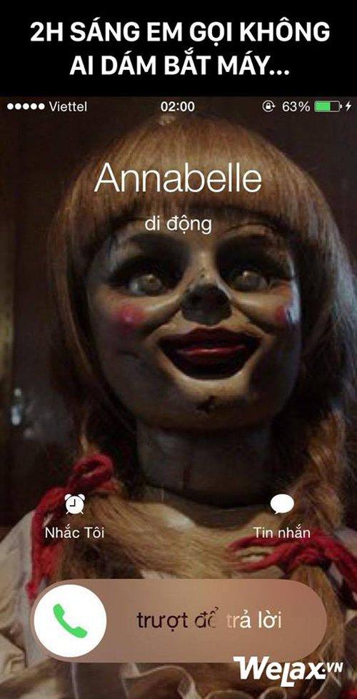Búp bê ma Annabelle gây sốt đến mức dân tình thi nhau chế cháo để diễn tả nỗi sợ hãi kinh hoàng! - Ảnh 1.