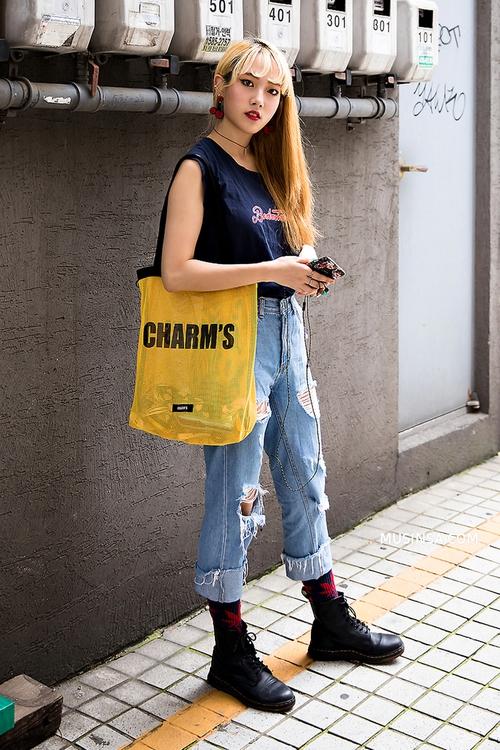 Cùng trưng dụng quần shorts nhưng giới trẻ Hàn lại có cả tá cách mix, cách nào cũng hút mắt thôi rồi! - Ảnh 12.