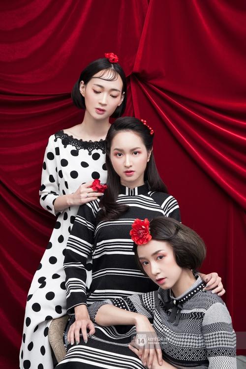 3 nàng hot girl Salim, Sun HT, Lê Vi xinh lạ trong những mẫu áo dài cách tân độc đáo - Ảnh 5.
