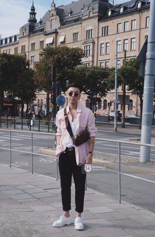 Chi Pu & Hoàng Ku đã đặt chân đến Thụy Điển, khoe street style siêu xinh trước khi thăm thú H&M - Ảnh 8.