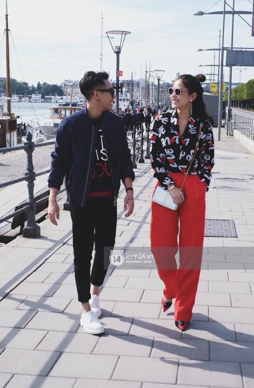 Chi Pu & Hoàng Ku đã đặt chân đến Thụy Điển, khoe street style siêu xinh trước khi thăm thú H&M - Ảnh 3.