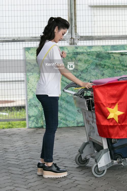 Huyền My đọ sắc cùng Miss Cambodia ở Hoa hậu Hòa bình Thế giới 2017, ai đẹp hơn ai? - Ảnh 4.