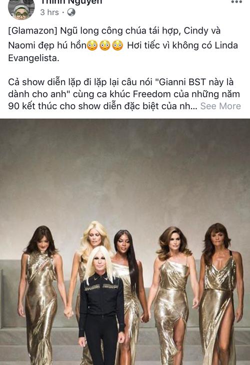 Hội chị em bạn dì siêu mẫu huyền thoại từ thời bố mẹ mình đã quy tụ đầy đủ trên sàn diễn Versace - Ảnh 8.