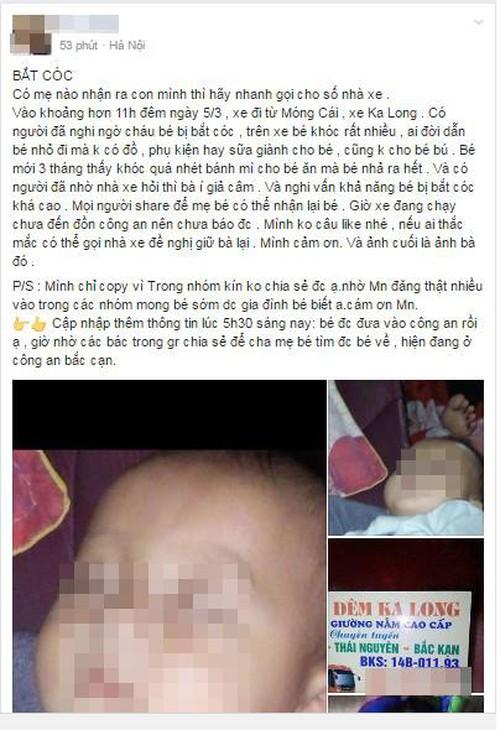 Người phụ nữ bế em bé 3 tháng tuổi trên xe khách bị đưa về đồn công an vì nghi bắt cóc - Ảnh 1.