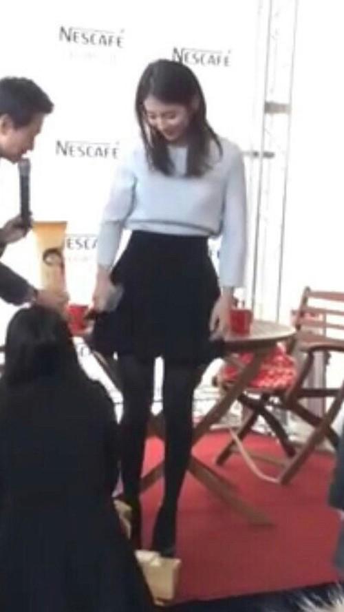 Mặc kệ ảnh kém chất lượng, Suzy vẫn khiến fan sốc vì chân thon, dáng đẹp - Ảnh 4.