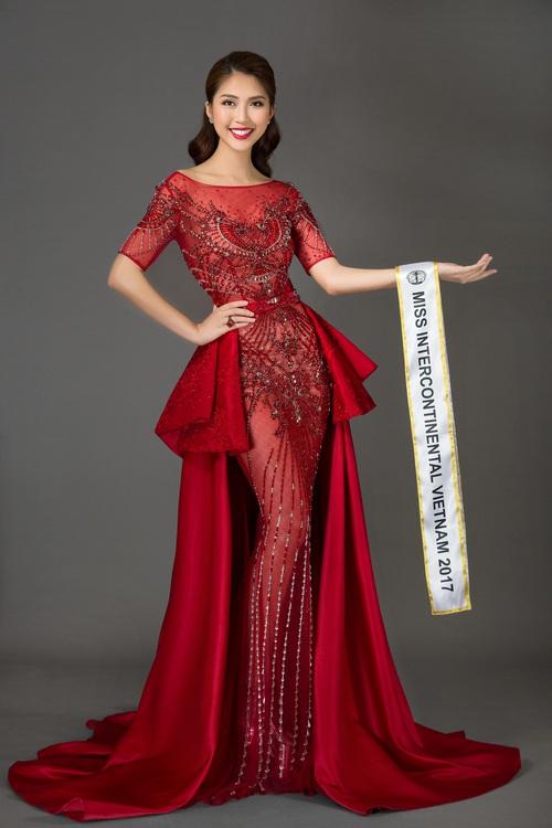 The Face vừa kết thúc, Tường Linh tiếp tục chinh chiến tại đấu trường Miss Intercontinental 2017 - Ảnh 4.