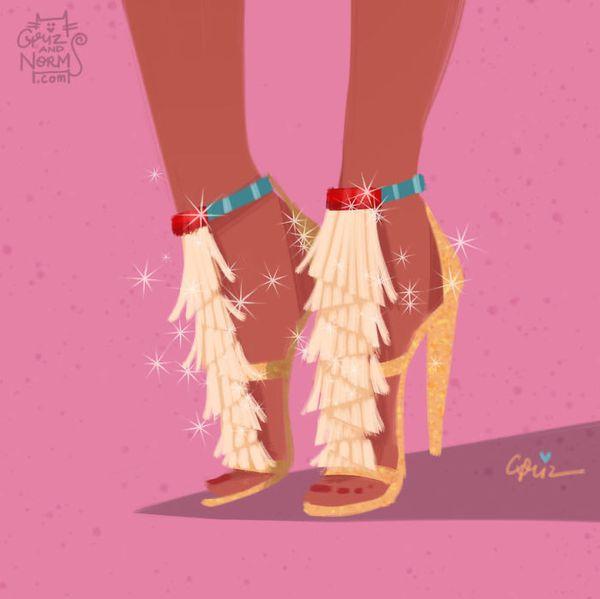 Bộ sưu tập giày hàng hiệu của các nàng công chúa Disney - Ảnh 1.