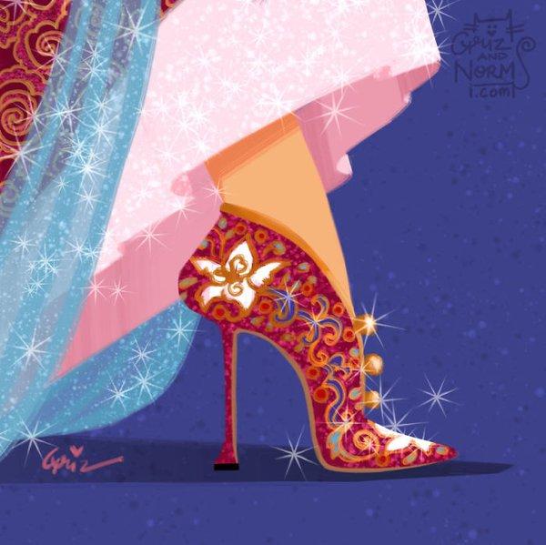 Bộ sưu tập giày hàng hiệu của các nàng công chúa Disney - Ảnh 12.