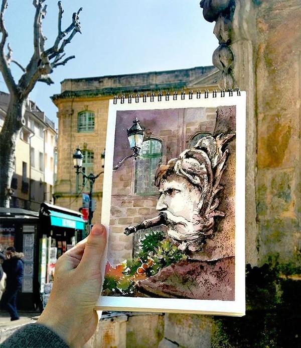 Khám phá cảnh đẹp thế giới qua bộ sưu tập tranh màu nước lung linh - Ảnh 13.