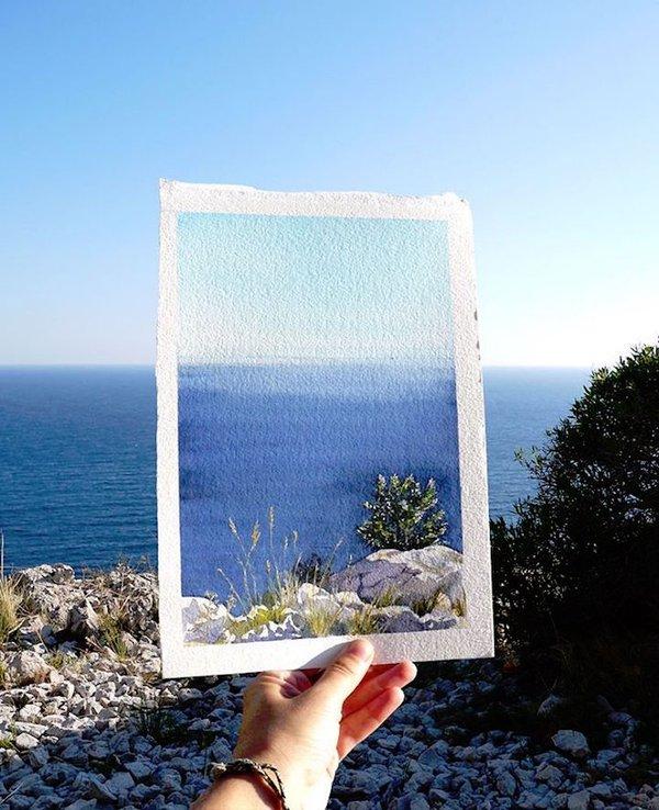 Khám phá cảnh đẹp thế giới qua bộ sưu tập tranh màu nước lung linh - Ảnh 5.
