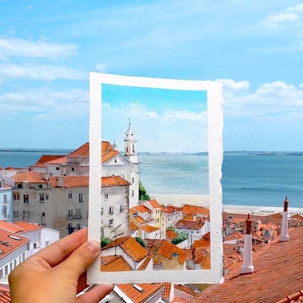 Khám phá cảnh đẹp thế giới qua bộ sưu tập tranh màu nước lung linh - Ảnh 6.