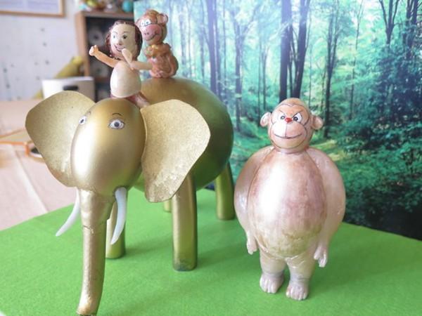 Nghệ nhân làm gần 40 chú khỉ bằng vỏ trứng để chúc Tết - Ảnh 7.