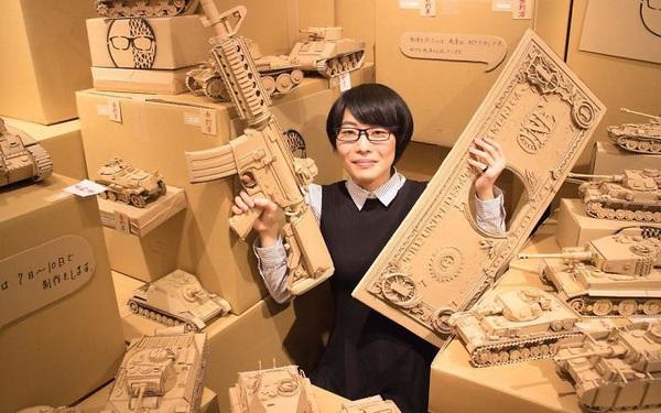 Cô gái Nhật biến bìa các-tông vứt đi thành những mô hình 3D sắc nét