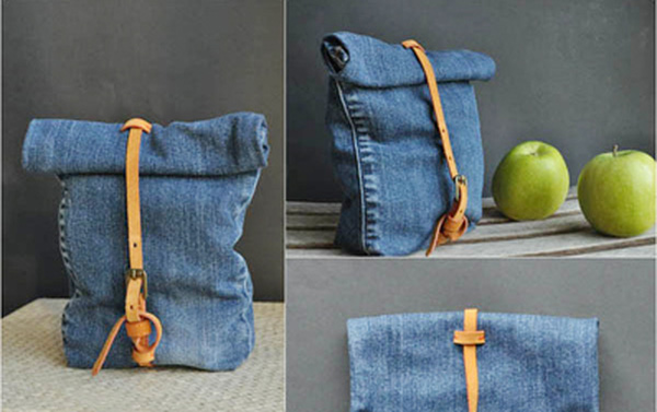 Túi xách tiện dụng được chế từ đồ cũ