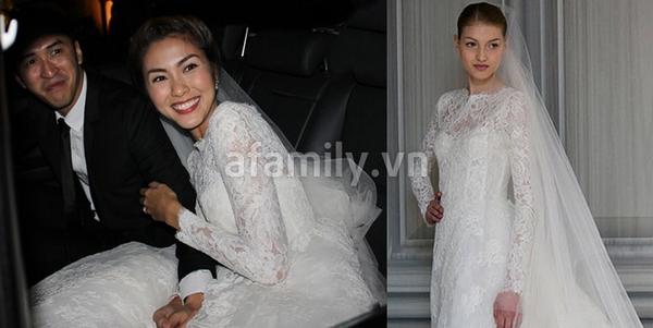 Tăng Thanh Hà mặc váy cưới trăm triệu 6