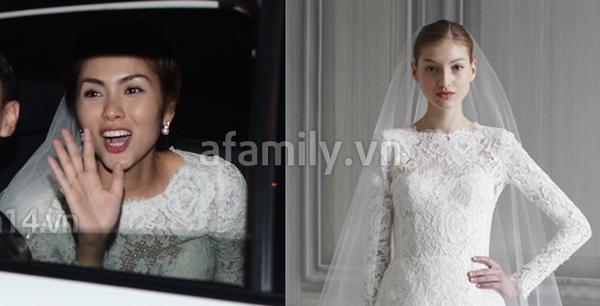 Tăng Thanh Hà mặc váy cưới trăm triệu 5