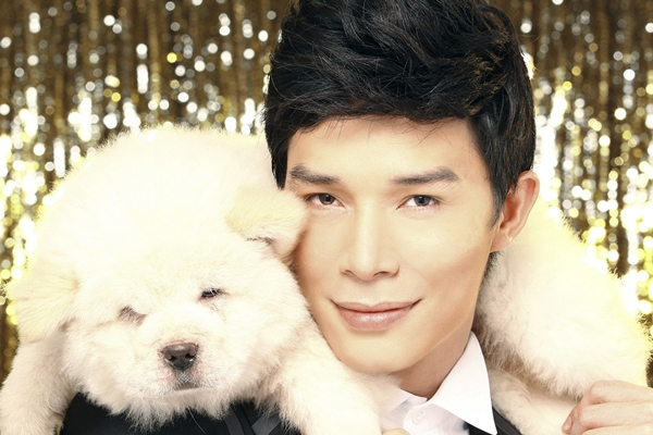 Nathan Lee chụp bìa single với cún cưng 1