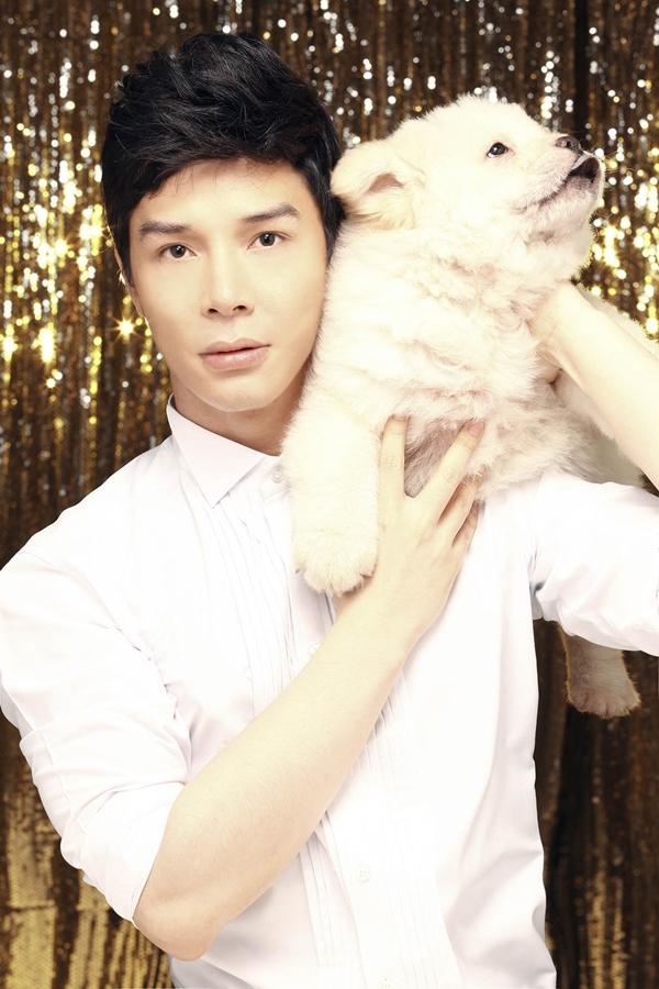 Nathan Lee chụp bìa single với cún cưng 3