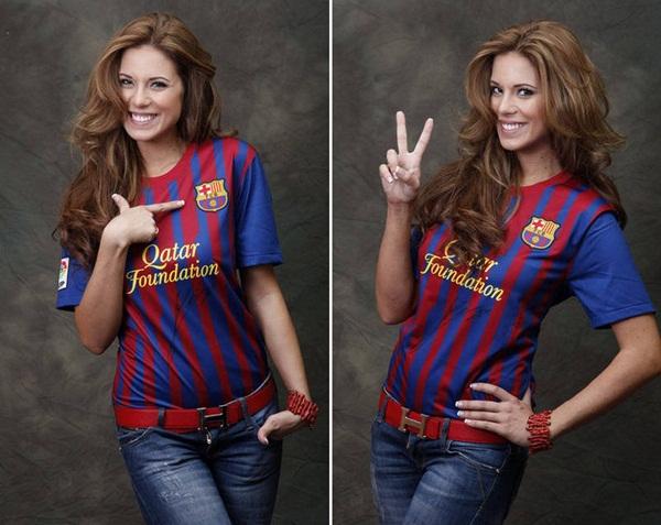 Hoa hậu Tây Ban Nha khỏa thân bên cờ Barcelona 4