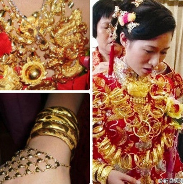 Cô dâu đeo... 5kg vàng trong đám cưới 2