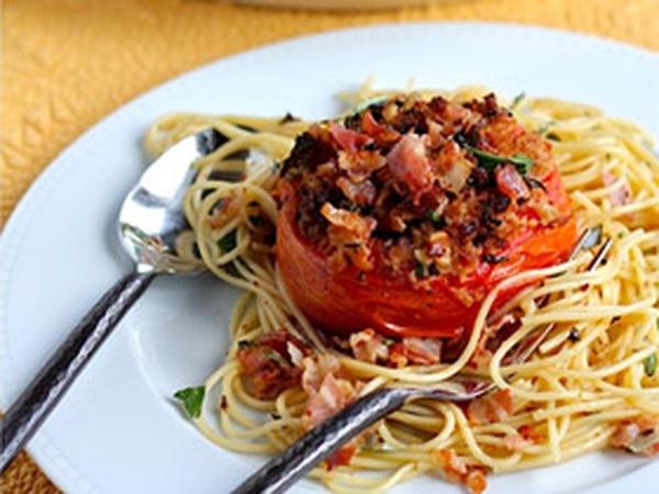 Spaghetti cà chua nướng – món quen mà thành lạ