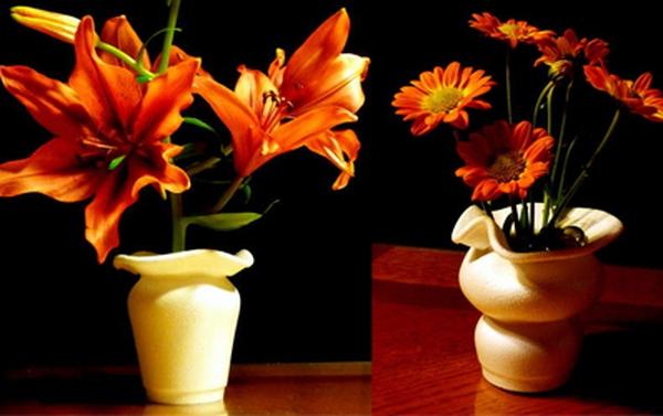 Từ cốc nhựa bỗng chốc biến thành lọ hoa dáng đẹp