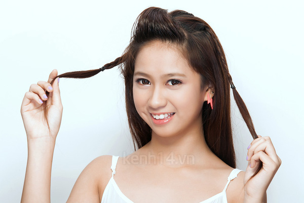 """Thực hiện 3 kiểu tóc tết """"siêu"""" dễ & kute 6"""