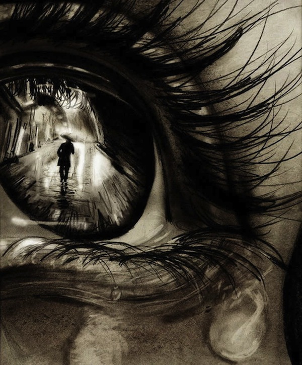 Tranh vẽ mắt ám ảnh, người 2 mặt 1