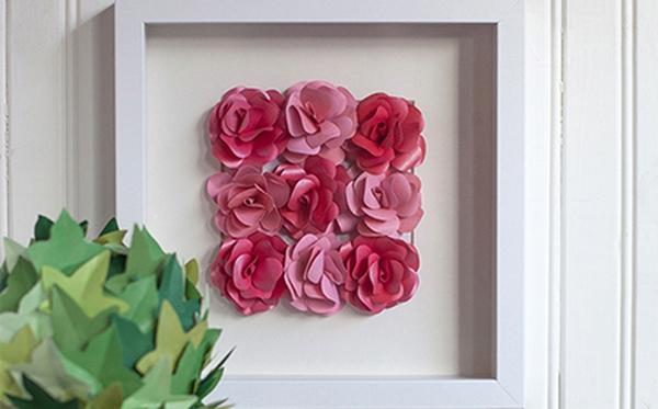 Ý tưởng làm tranh hoa hồng giấy đi tỏ tình lãng mạn