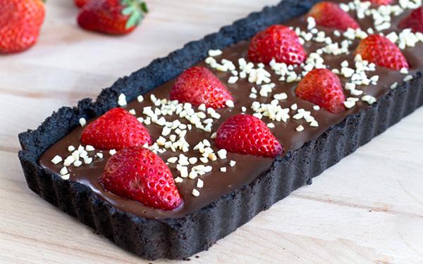 Gửi yêu thương với chocolate tart không cần lò đi tặng cô giáo