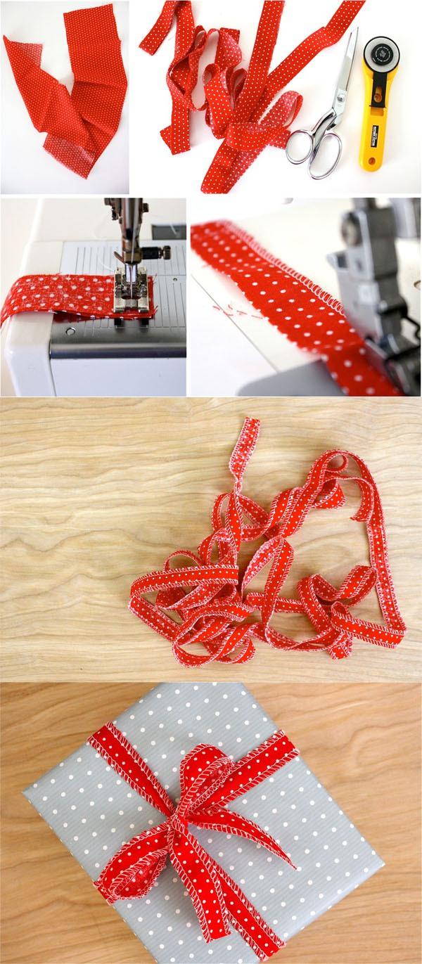 Học nhanh cách thắt nơ hộp quà với dây vải 2