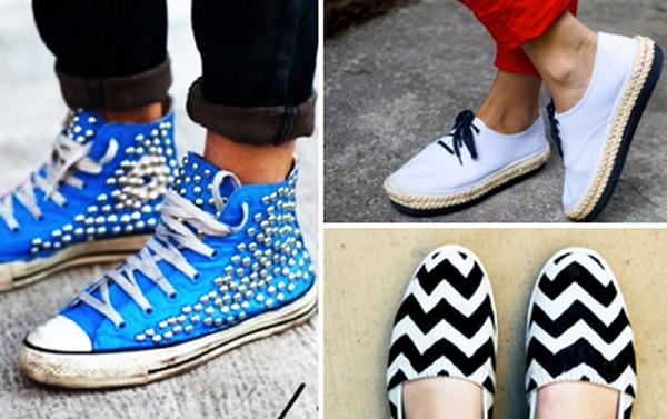 Ý tưởng làm mới cho đôi giày thêm cá tính