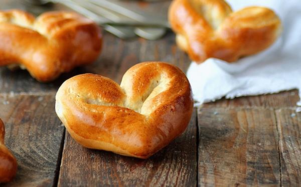 Cách làm BÁNH MÌ ngọt hình trái tim siêu xinh, bánh mì, BANH MI, banh mi