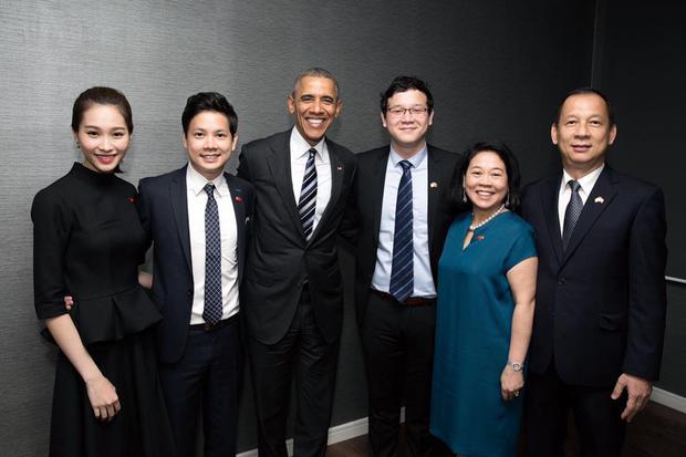 Hoa hậu Thu Thảo cảm ơn bạn trai vì cơ hội diện kiến Tổng thống Obama - Ảnh 2.
