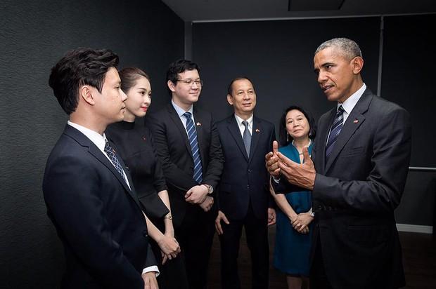Hoa hậu Thu Thảo cảm ơn bạn trai vì cơ hội diện kiến Tổng thống Obama - Ảnh 1.