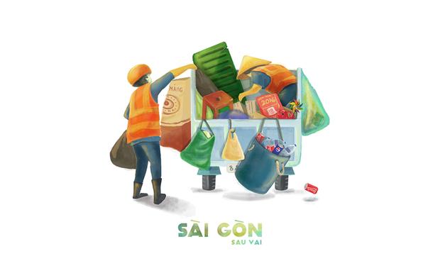 Bộ tranh Sài Gòn sau vai: Khi Sài Gòn thu bé lại chỉ bằng vài bờ vai! - Ảnh 5.