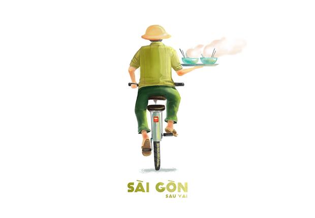 Bộ tranh Sài Gòn sau vai: Khi Sài Gòn thu bé lại chỉ bằng vài bờ vai! - Ảnh 8.