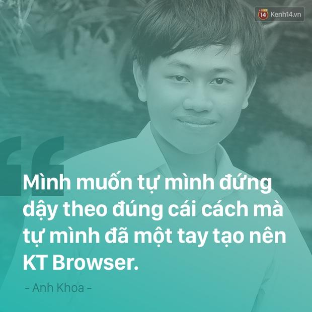 Tự viết trình duyệt web rồi bị đánh sập, cậu học sinh Kontum 15 tuổi này nói: Cứ để em tự đứng lên - Ảnh 8.