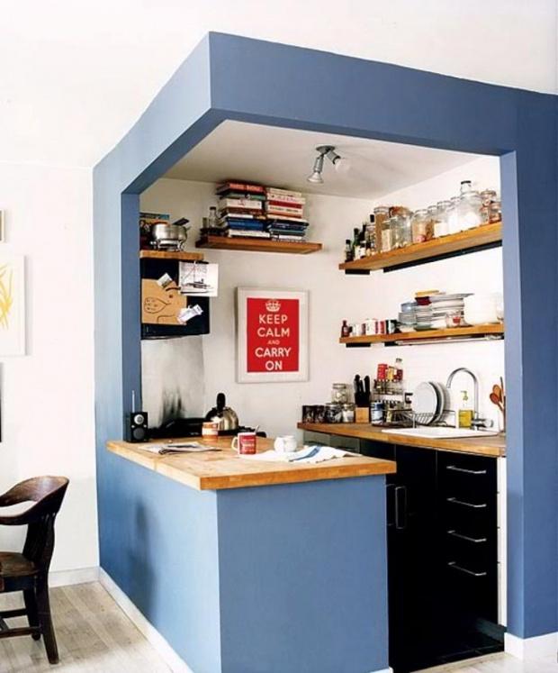 Làm mới không gian bếp chật hẹp thành căn bếp 5 sao lung linh - Ảnh 2.