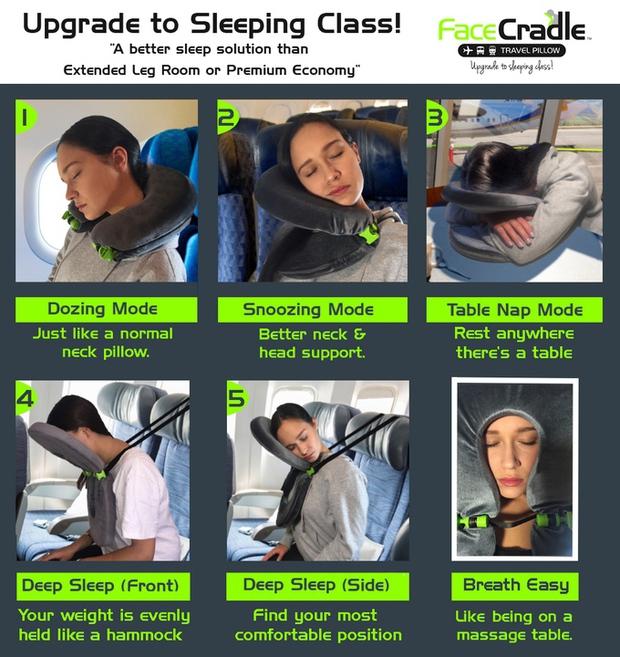Vẹo cổ vì ngủ trên tàu xe, đừng lo đã có gối du lịch đa năng - Ảnh 4.