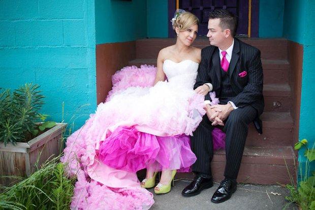 Những bộ váy cưới ombre tuyệt đẹp dành cho các cô dâu phá cách - Ảnh 5.