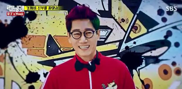 Anh Mũi To nhuộm tóc xanh đỏ, bật khóc trong đám cưới tại Running Man - Ảnh 3.