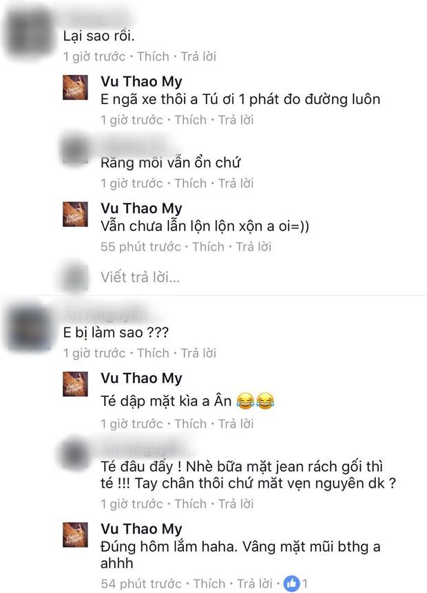 Gặp ô tô chạy ẩu, Quán quân The Voice Việt - Vũ Thảo My đo đường trầy trụa toàn thân - Ảnh 3.