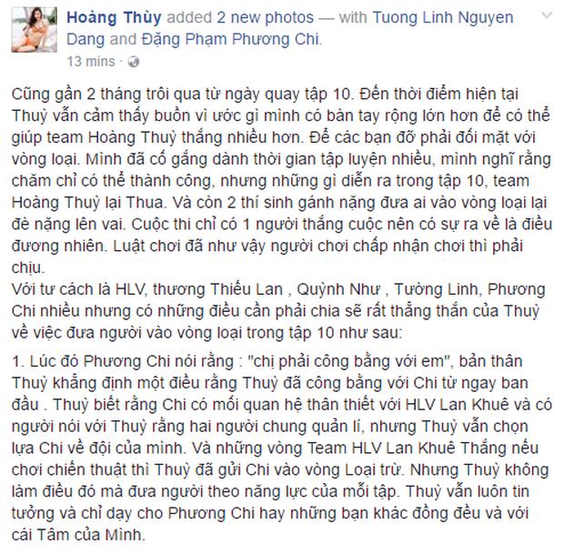 Hoàng Thùy viết tâm thư sau trận cãi vã với học trò trên sóng Quốc gia - Ảnh 2.