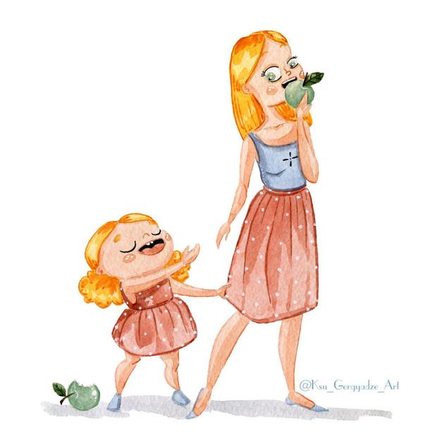 Bộ tranh: Vì con gái nhỏ, mẹ sẽ làm tất cả - Ảnh 1.