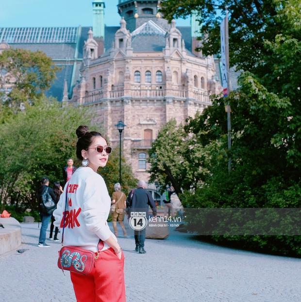 Chi Pu & Hoàng Ku đã đặt chân đến Thụy Điển, khoe street style siêu xinh trước khi thăm thú H&M - Ảnh 14.