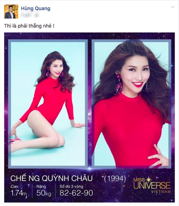 Quang Hùng khích lệ tình cũ Quỳnh Châu giành chiến thắng tại Hoa hậu Hoàn vũ Việt Nam 2017 - Ảnh 1.
