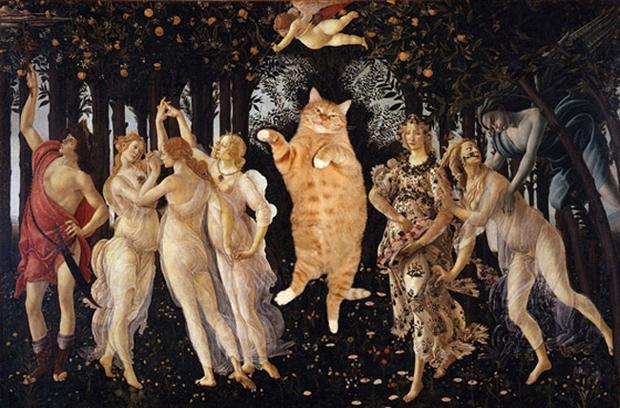 Chùm ảnh chế mèo béo hóa thân thành nàng thơ trong các bức họa nổi tiếng - Ảnh 3.