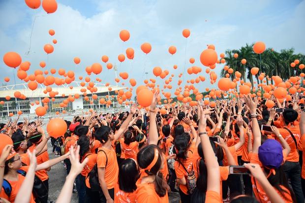 Hàng ngàn sinh viên xuống đường đi bộ vì nạn nhân da cam - Ảnh 12.