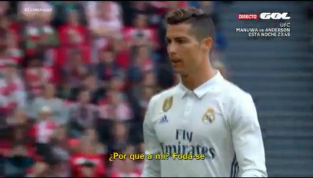 Ronaldo chửi thề sau khi bị thay ra sân? - Ảnh 1.